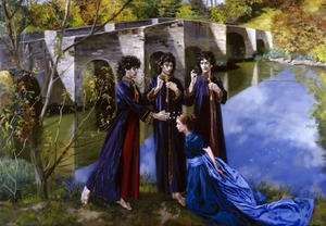 CORONATION OF THE VIRGIN by André Durand (2006) (sacred, stopham bridge, trinity, holy, Virgin, coronation, stopham)