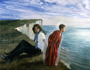 JESUS AND SAINT JOSEPH-BEACHY HEAD by André Durand (2005) (Saint Joseph, Jesus, Christ, Beachy Head, Sussex, England)