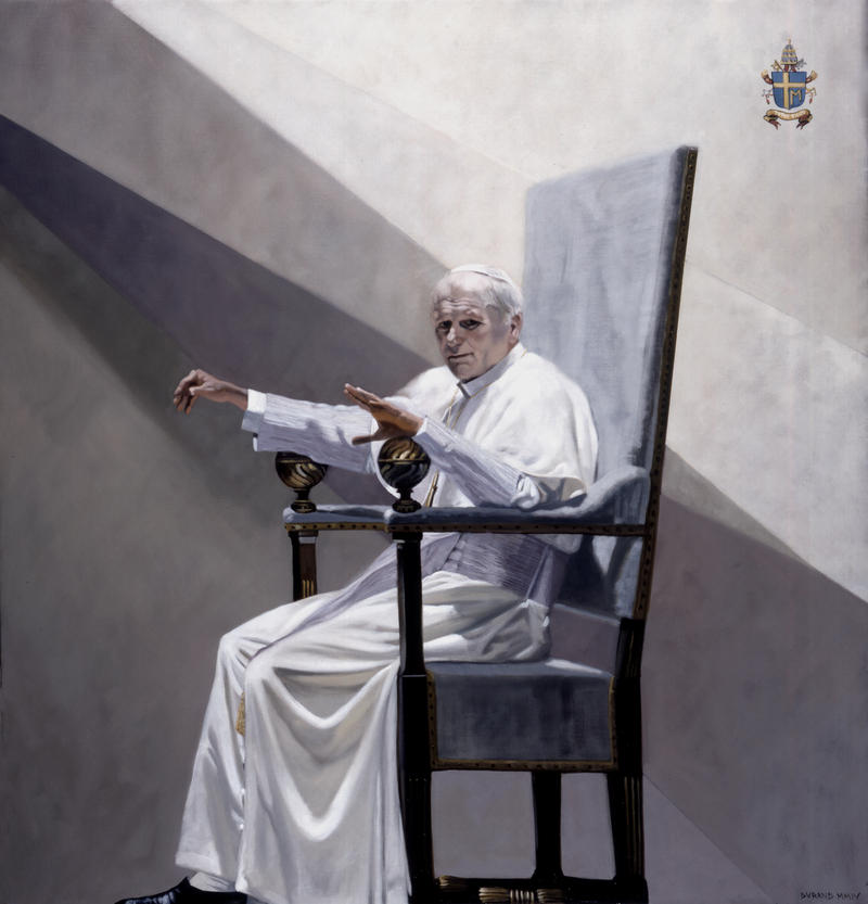 JOHN PAUL II (SECOND VERSION) by André Durand (2004) (pope, papal, official portrait, polish, Rome, Karol Józef Wojtyła, Vatican)